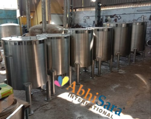 SS Jacketed Insulation Tank